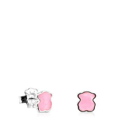 Серебряные Серьги TOUS Color с розовым Кварцитом