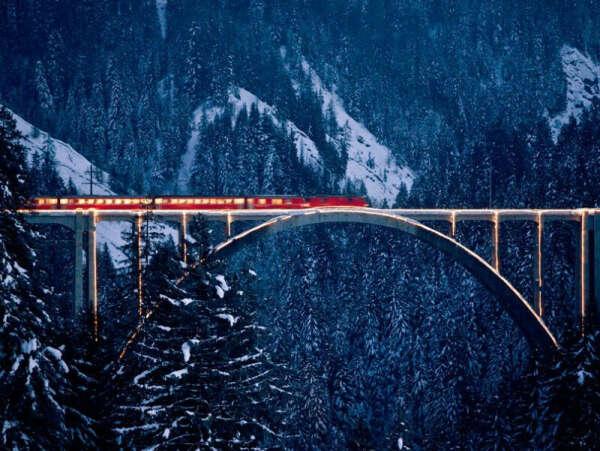 Проехаться на вот таком поезде в Швейцарии