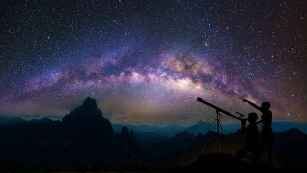 Изучение звездного неба через телескоп
