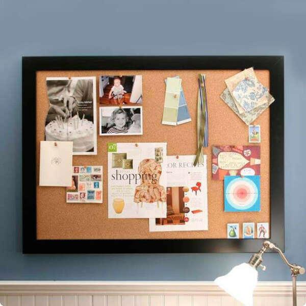 Большую пробковую доску на стену для фотоколлажа, записок и идей