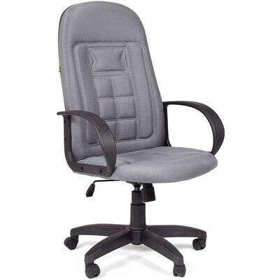Кресло для руководителя Chairman 727 светло-серое (ткань/пластик) – выгодная цена – купить товар Кресло для руководителя Chairman 727 светло-серое (ткань/пластик) в интернет-магазине Комус