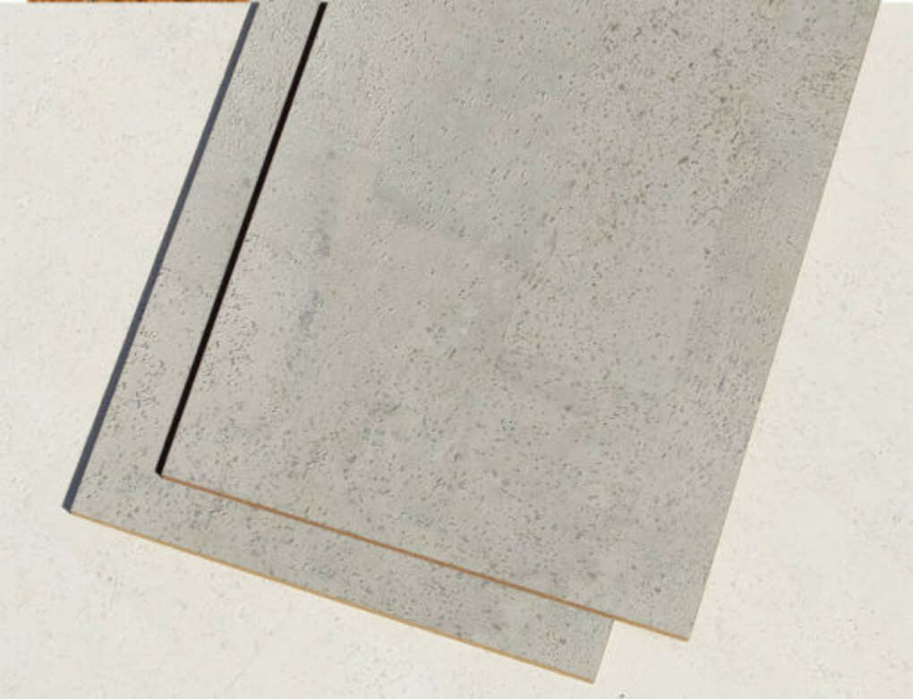 Gray Leather 1/4″ (6mm) Cork Tiles (22 sq. ft. / case)