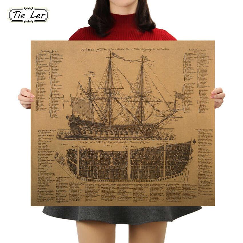 Ретро постер корабль