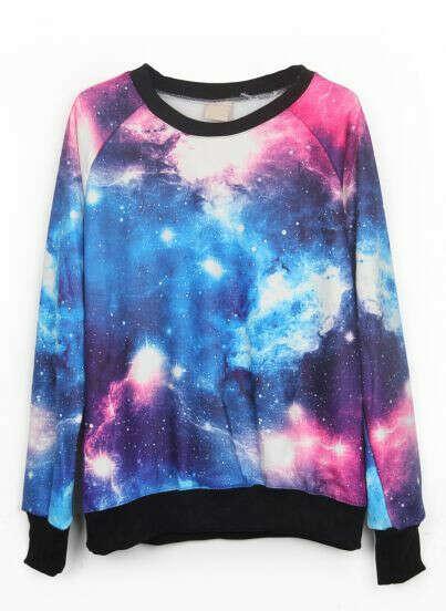 Розозиний пуловер печати галактики