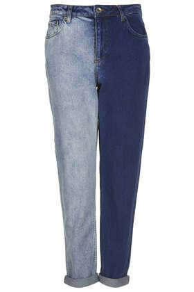 Zweifarbige MOTO Mom Jeans