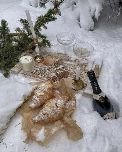 Устроить зимний пикник
