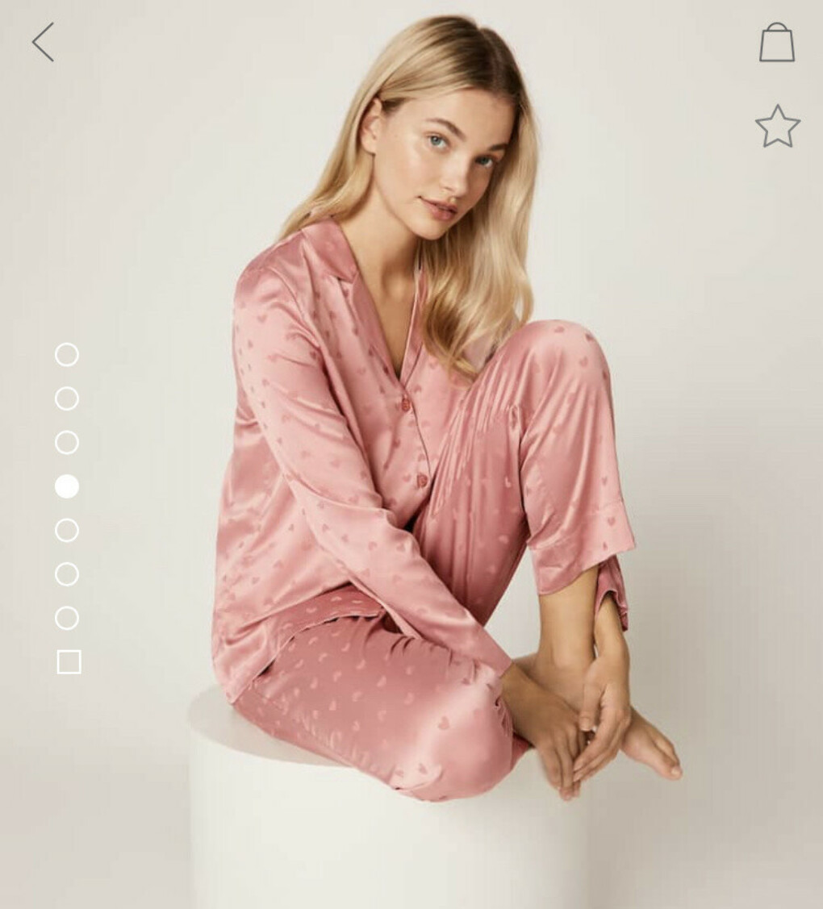 Пижама Oysho с сердечками