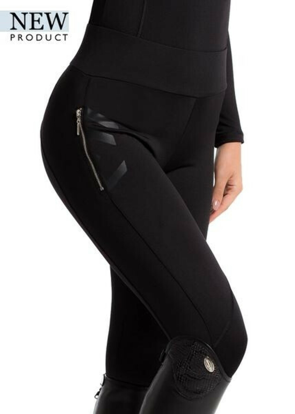 SS18 Black Technical Stretch Leggings