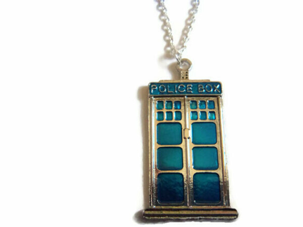 Police Box Necklace, Tardis Necklace, Dr Who Jewelry