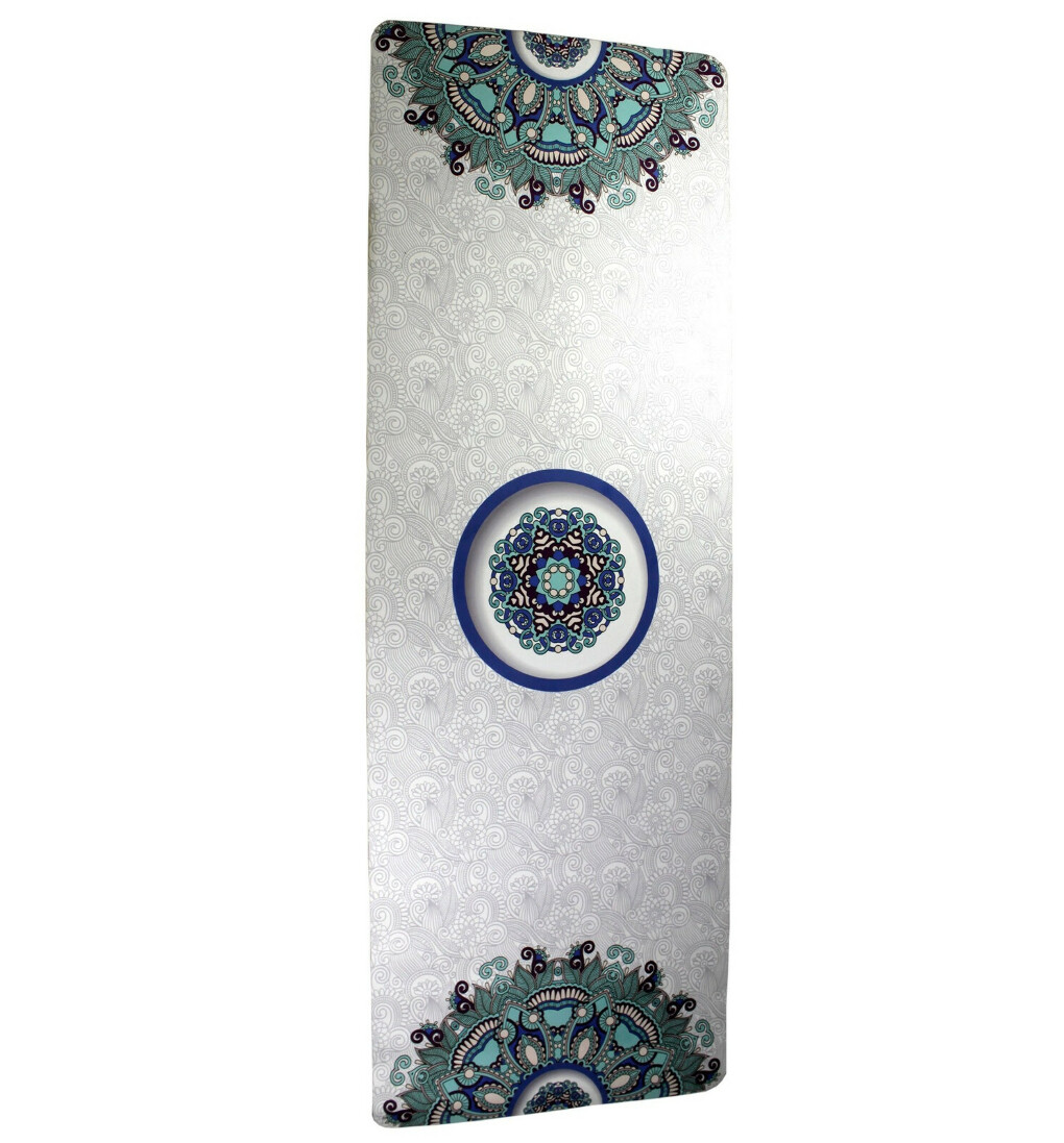 Нескользящий белый (светлый) коврик для йоги