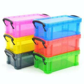 mini candy colored locking storage box (11.5*6.5*5cm)