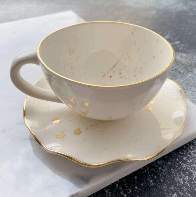 Чайная пара «Белый космос»