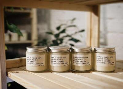 Свечи с запахом корицы,гвоздики и всего вкусного