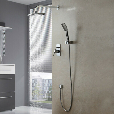Contemporary Single Handle Shower Faucet with Wall Mount Set At FaucetsDeal.com
