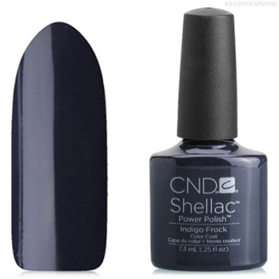 CND Shellac, цвет Indigo Frock