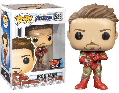 Funko Pop! Marvel: Avengers Endgame - Tony Stark with Gauntlet Fall Convention Exclusive