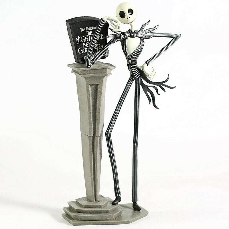 Экшн-Фигурка «Кошмар перед Рождеством», Джек Скеллингтон со сменными головами, Коллекционная модель, игрушка в подарок, 35 см