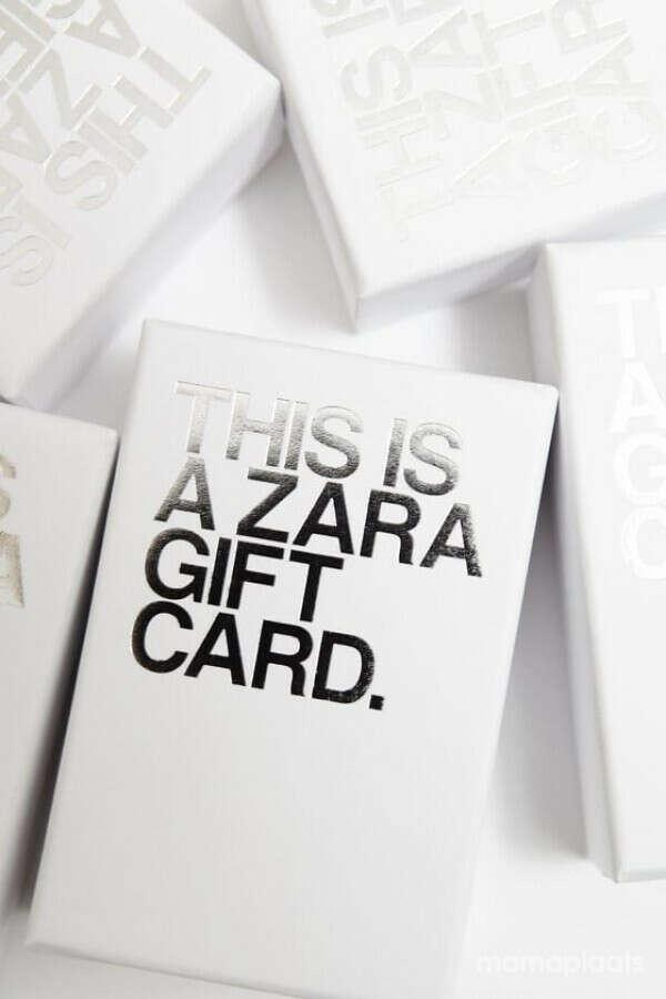 Подарочная карта Zara
