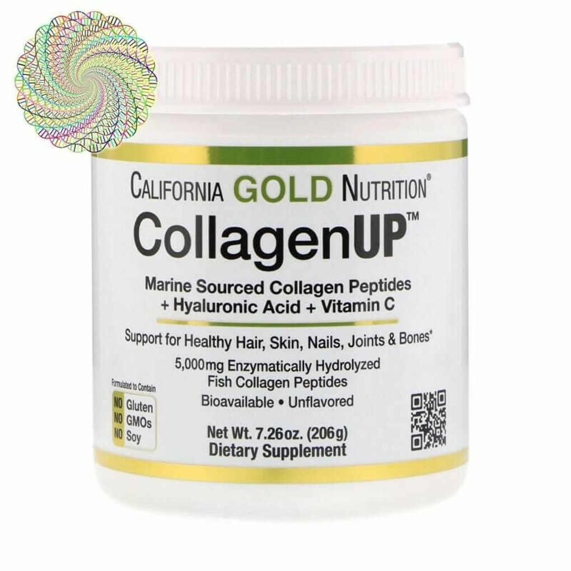 California Gold Nutrition, CollagenUP, морской коллаген, гиалуроновая кислота и витамин C, без ароматизаторов