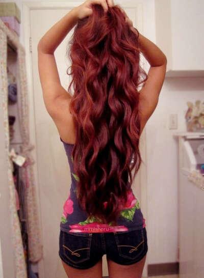 Хочу шикарные волосы до поясницы (тёмно-красного цвета ХНОЙ)