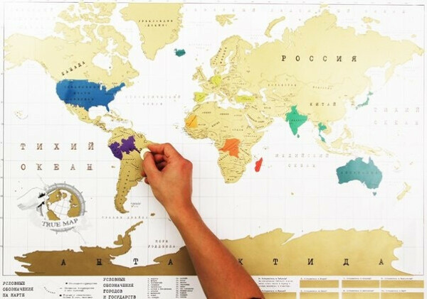 Скетч карта мира