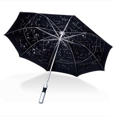 Зонт черный Levenhuk (Левенгук) Star Sky U10