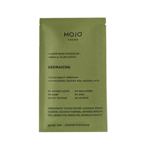 Mojo Cacao — Шоколад Genmaicha