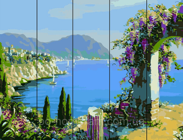 Картина по номерам на дереве Цветущая арка (RA-W454) 40 х 50 см Rainbow Art купить Киев на Po-Nomeram