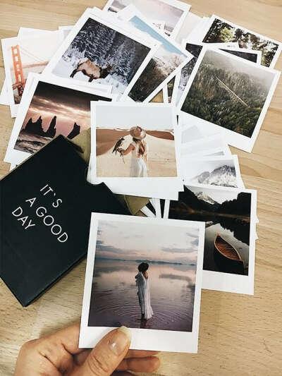 Фотокарточки в стиле Polaroid