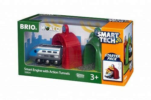 BRIO Smart Tech Поезд с управляющими тоннелями БРИО 33834