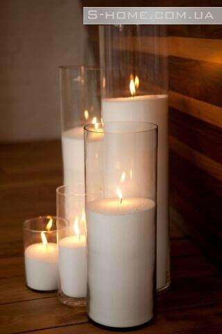 Свечи в колбе