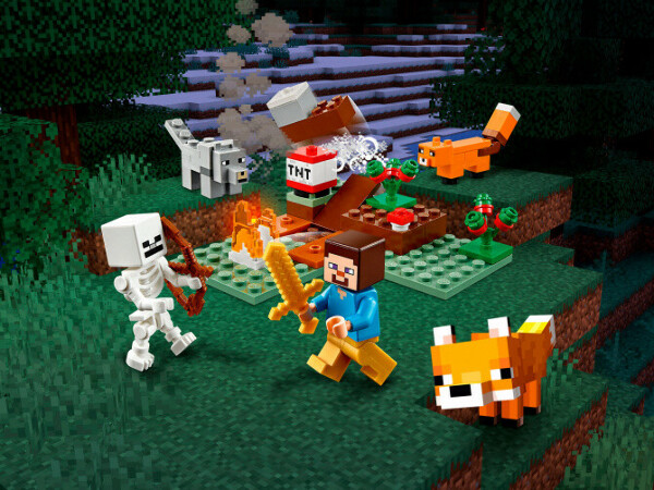 Конструктор Minecraft (Майнкрафт) 21162 Приключения в тайге LEGO® (ЛЕГО) - купить в Сети сертифицированных магазинов LEGO, Москва