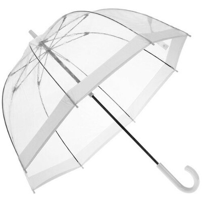 """Зонт-трость женский механический """"Bird cage"""" белый L041-3F002 бренда Fulton"""