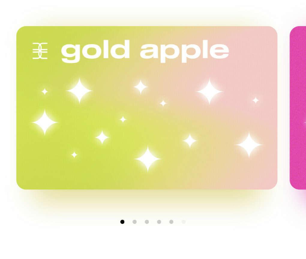 Подарочная карта Gold Apple