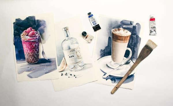 Мини-курс «Секреты рисования стекла и напитков» —Акварельная food-иллюстрация от Полины Ишхановой