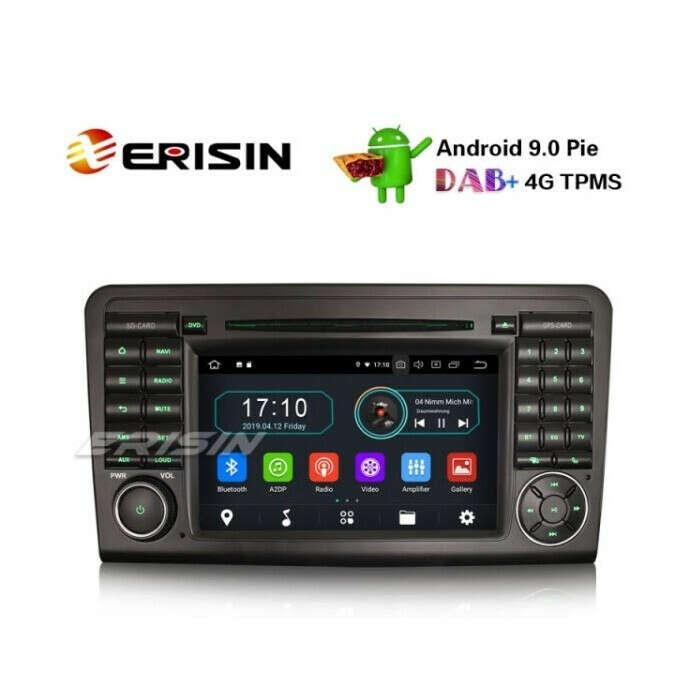 """ERISIN ES5961L 7"""" ANDROID 10.0 CAR STERO FOR MERCEDES BENZ ML/GL CLASS W164 X164 DAB+ CARPLAY+ NAVI TNT WIFI"""