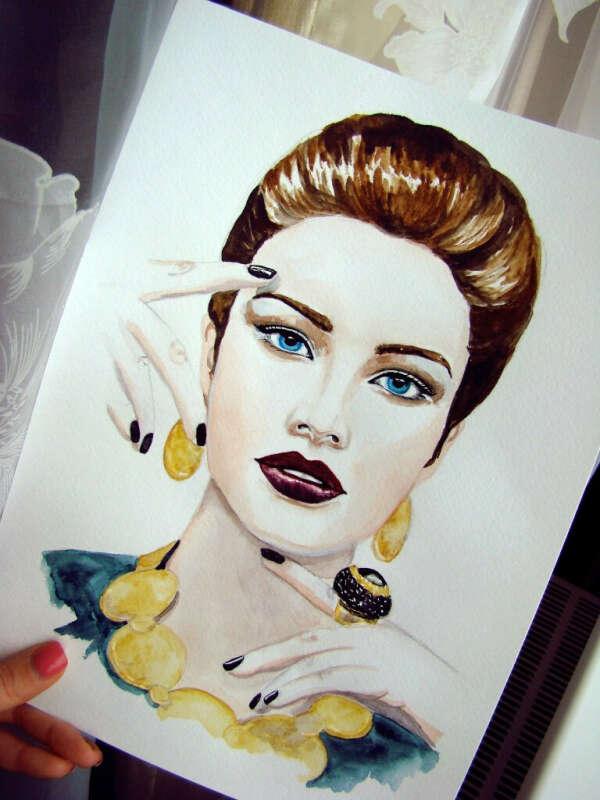 Научится красиво рисовать портреты )