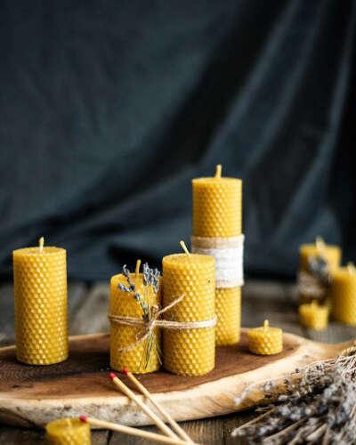 Свечи из вощины от medovo.candles
