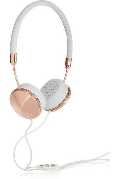 Layla Kopfhörer aus Leder mit roségoldfarbenen Details