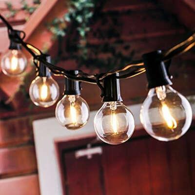 Уличная гирлянда с лампочками