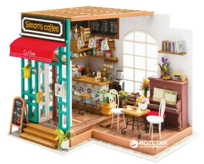 Мини-интерьерная модель ручной работы Robotime Кафе