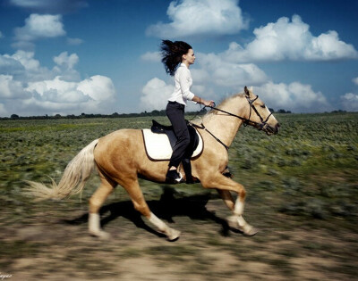 Прокатиться верхом на лошади