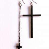 Женя Юрьева wants : Серьги в виде крестов (серьги,черный,крест)