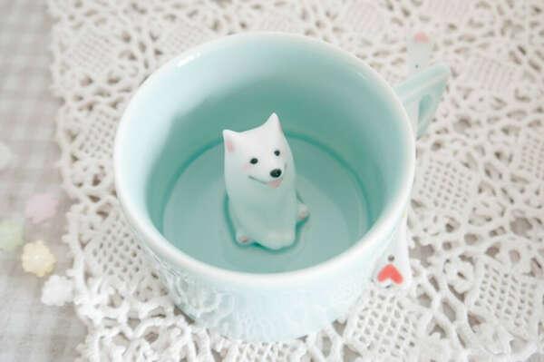 Чашка с самоедом