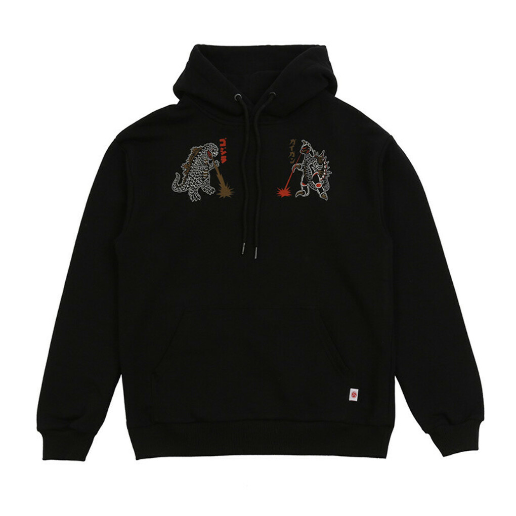 Godzilla vs Gigan Black Hoodie - BREATHE OUT