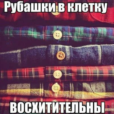 много рубашек в клетку