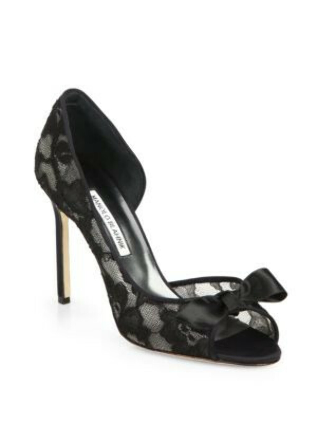 Manolo Blahnik - Lace d'Orsay Pumps