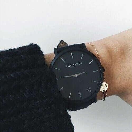 черные матовые часы