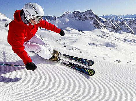 Научиться кататься на лыжах