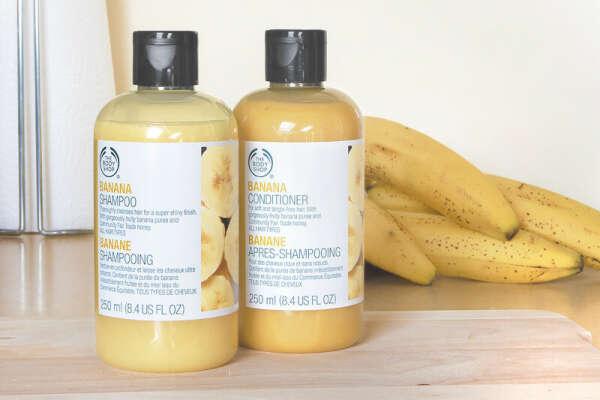 The body shop banana shampoo&conditioner